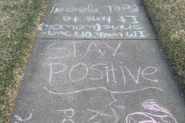 stay positive chalk inspiration