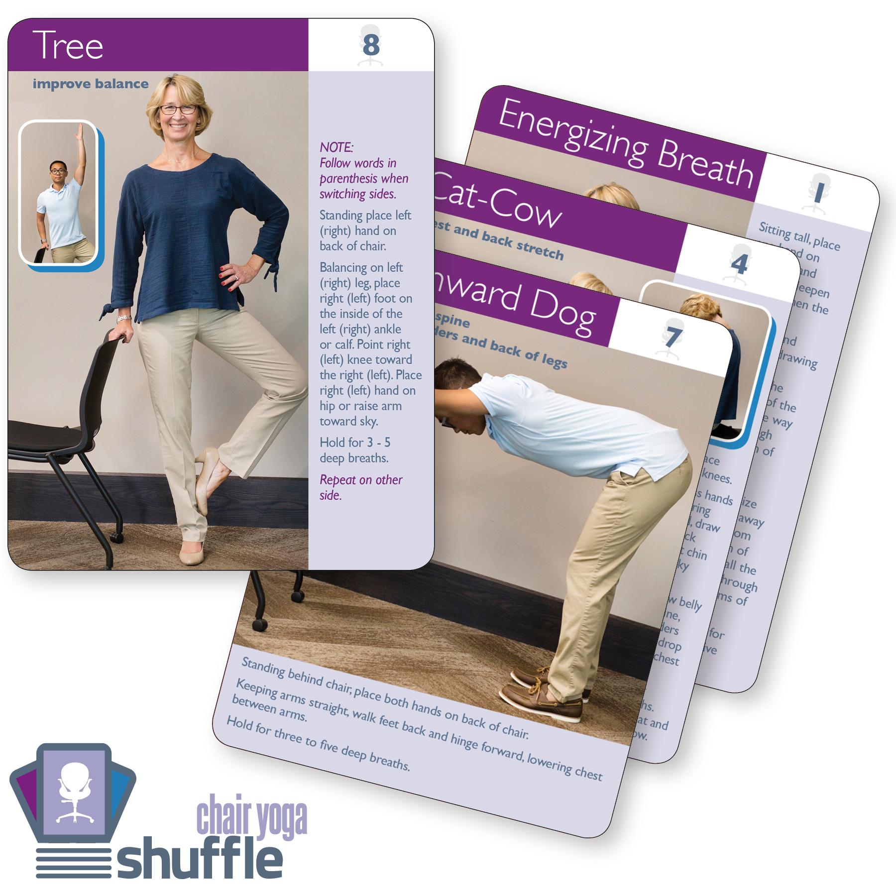 chair yoga shuffle cards