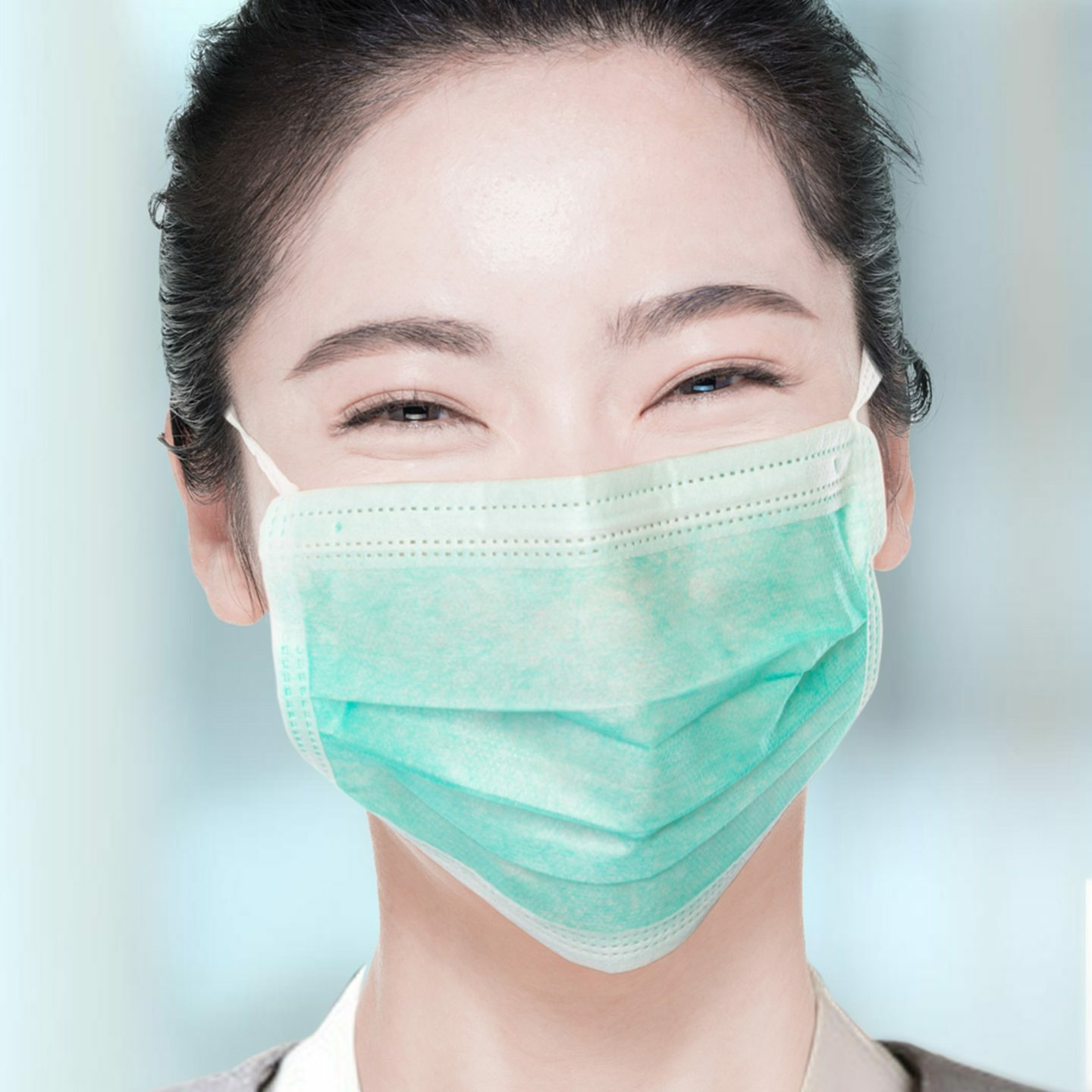 Woman in surgical mask