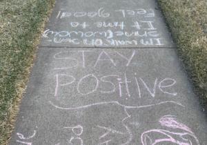 stay positive chalk inspiration
